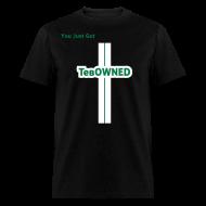 T-Shirts ~ Men's T-Shirt ~  Tribute - TebOWNED Crucifix - Mens T-Shirt