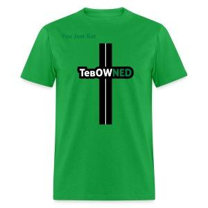 Tribute - TebOWNED Crucifix - Mens T-Shirt - Men's T-Shirt