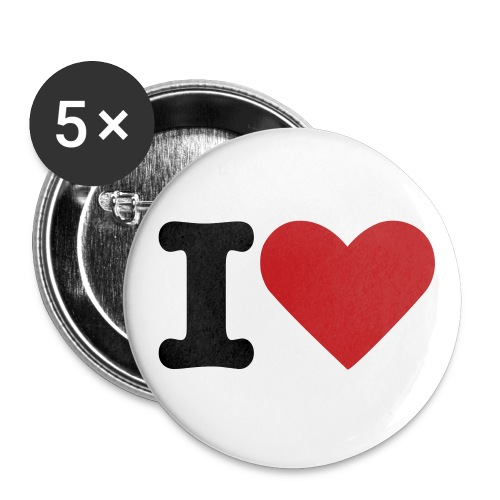 Large HeartXCore Buttons - Buttons large 2.2'' (5-pack)