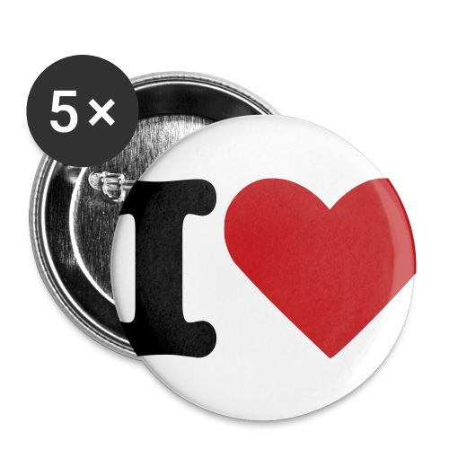 Small HeartXCore Buttons - Buttons small 1'' (5-pack)
