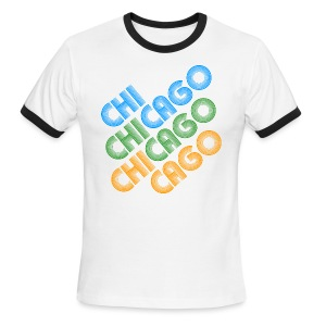 Chicago Cubed - Men's Ringer T-Shirt