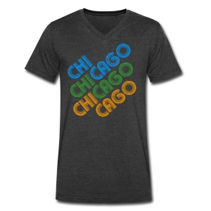 Chicago Cubed - Men's V-Neck T-Shirt by Canvas