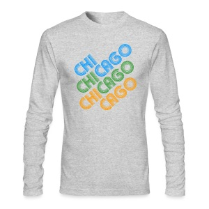 Chicago Cubed - Men's Long Sleeve T-Shirt by Next Level
