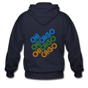 Chicago Cubed - Men's Zip Hoodie
