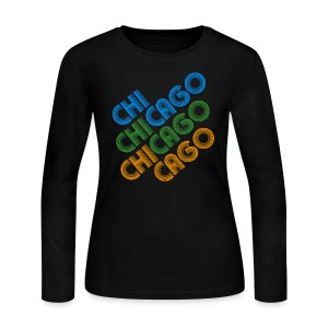 Chicago Cubed - Women's Long Sleeve Jersey T-Shirt