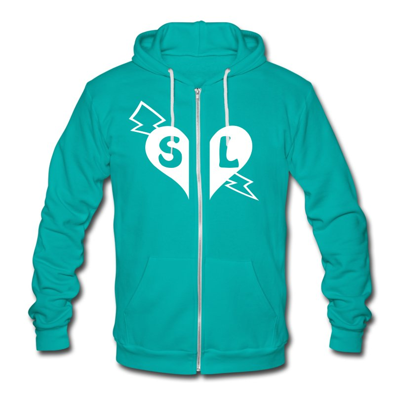 SL Split Heart Shane Dawson - Unisex Fleece Zip Hoodie by American Apparel
