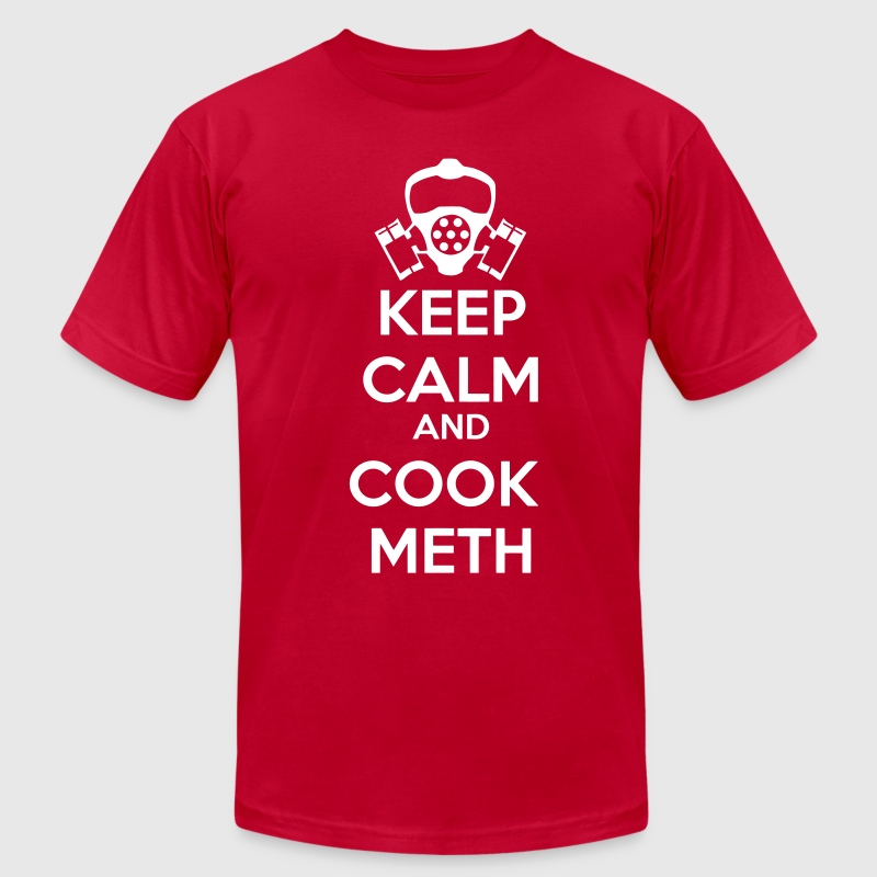 Keep Calm and Cook Meth T-Shirts - Men's T-Shirt by American Apparel