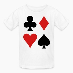 all four suits club diamond heart and spade poker design Kids' Shirts