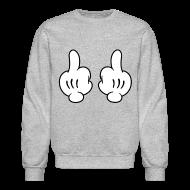 Long Sleeve Shirts ~ Crewneck Sweatshirt ~ Middle Finger Sweater
