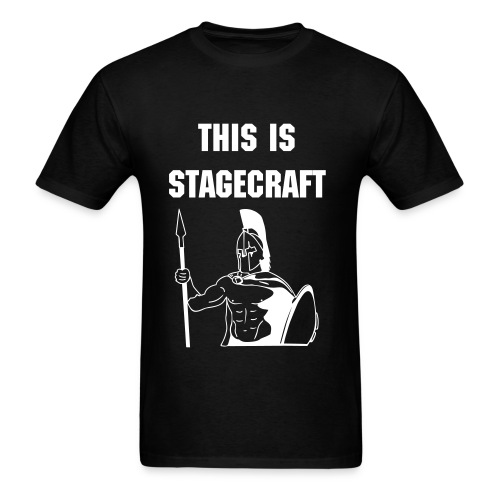 This is Stagecraft Sparta T-Shirt (inspired by Zander B) - Men's T-Shirt