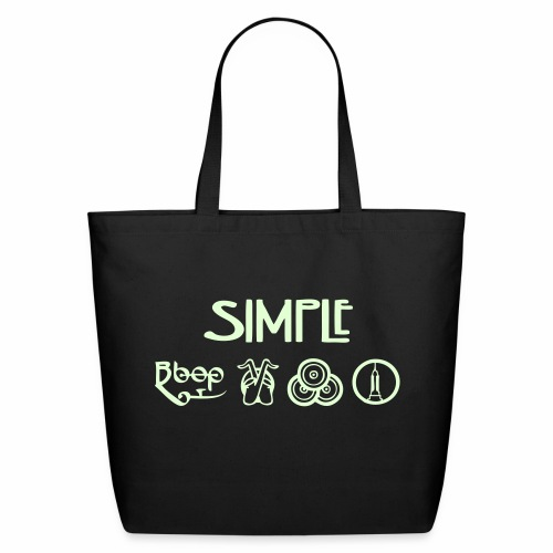 Simple GLOW IN THE DARK Tote Bag - Eco-Friendly Cotton Tote
