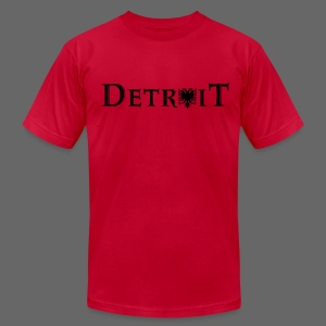 Detroit Albanian Flag - Men's T-Shirt by American Apparel