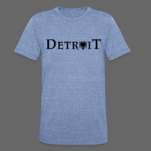 Detroit Albanian Flag - Unisex Tri-Blend T-Shirt by American Apparel