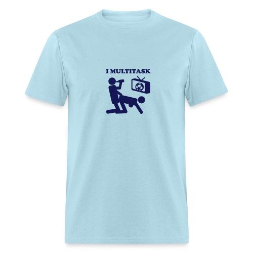 I multitask NSFW Funny Soccer Beer Sex - Men's T-Shirt
