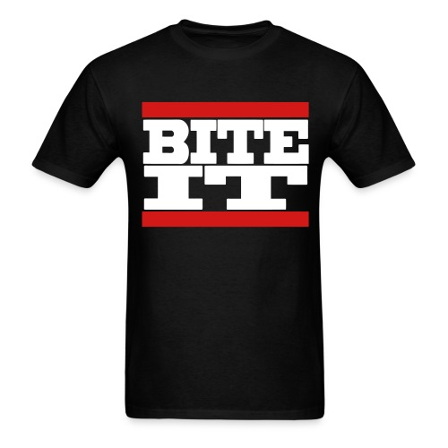 Men's BITE IT T-Shirt (White Text) - Men's T-Shirt