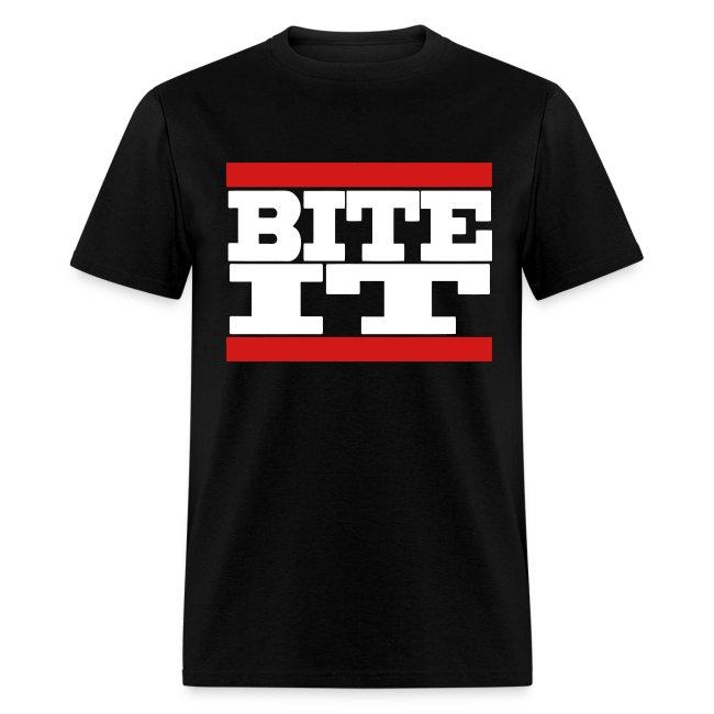 Men's BITE IT T-Shirt (White Text)
