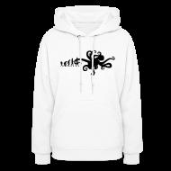 Evolution of Man Funny Octopus Joke Hoodie Women and Teen Girls Sweatshirt
