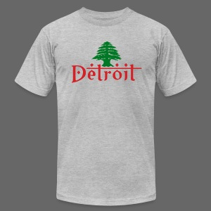 Detroit Lebanese Flag - Men's T-Shirt by American Apparel