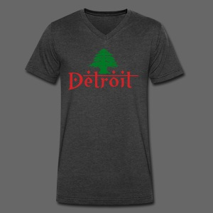 Detroit Lebanese Flag - Men's V-Neck T-Shirt by Canvas
