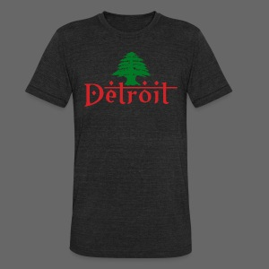 Detroit Lebanese Flag - Unisex Tri-Blend T-Shirt by American Apparel