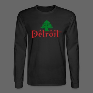 Detroit Lebanese Flag - Men's Long Sleeve T-Shirt
