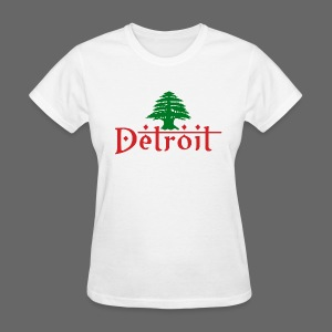 Detroit Lebanese Flag - Women's T-Shirt