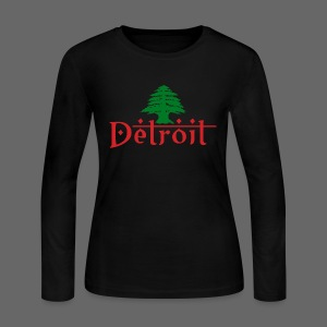 Detroit Lebanese Flag - Women's Long Sleeve Jersey T-Shirt