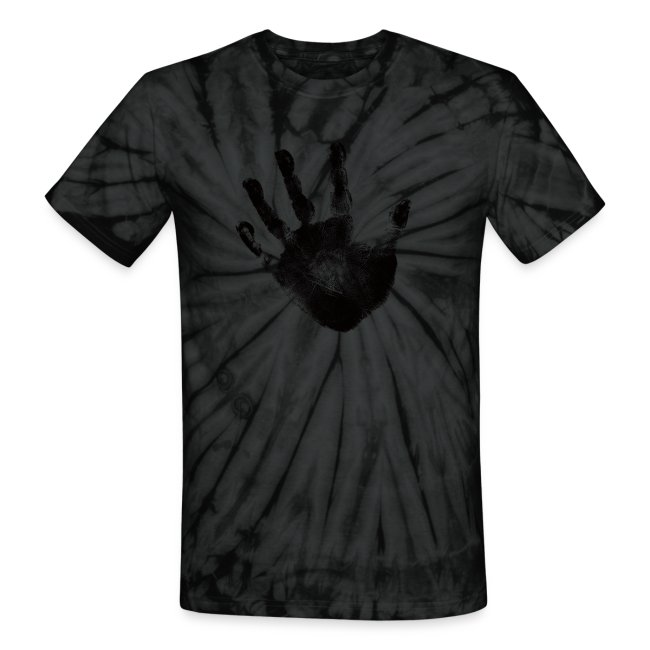 bc21e3410d70 Black Handprint Graphic Design Tie Dye Tshirt