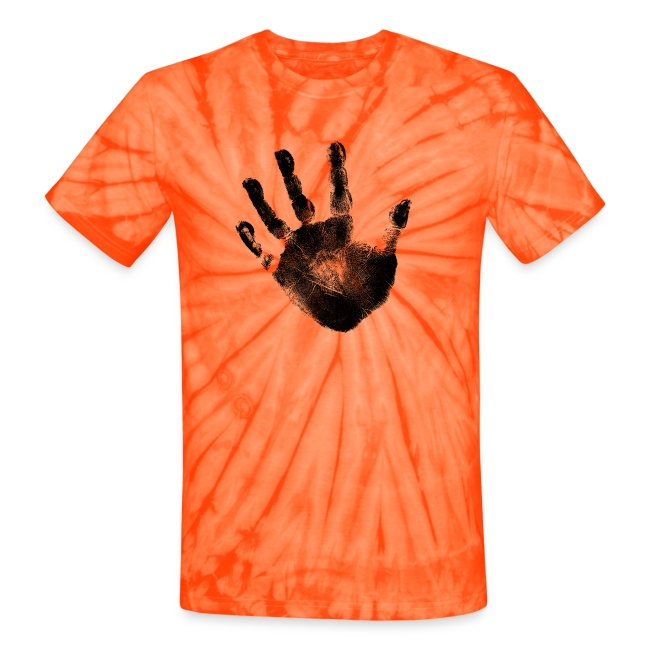 ed9c04154869e Black Handprint Graphic Design Tie Dye Tshirt | Men and Women Unisex Short  Sleeve Cotton Top | Unisex Tie Dye T-Shirt