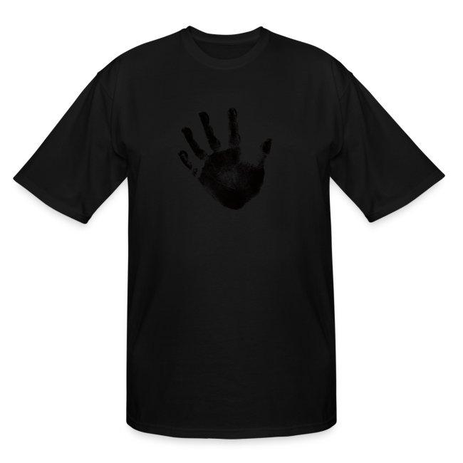 fefa62461 Black Handprint Graphic Design for Men and Teen Short Sleeve Tee Shirt