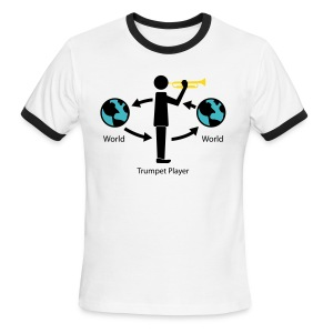 Trumpet Players and the World - Men's Ringer T-Shirt