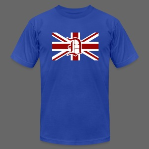 Detroit British Flag - Men's T-Shirt by American Apparel