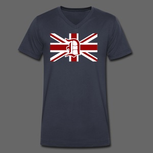 Detroit British Flag - Men's V-Neck T-Shirt by Canvas