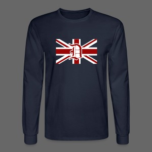 Detroit British Flag - Men's Long Sleeve T-Shirt