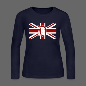 Detroit British Flag - Women's Long Sleeve Jersey T-Shirt