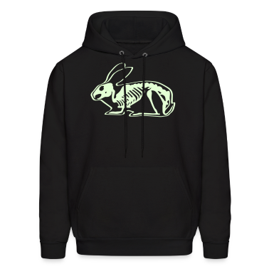 Ray X x-ray rabbit cony hare bunny bunnies long ear skeleton carcass bones roentgen death jack rabbit Hoodies
