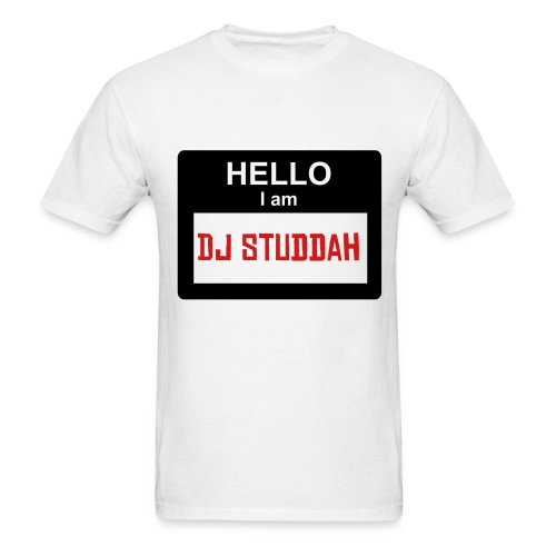 Hello Im: DJ Studdah - Men's T-Shirt