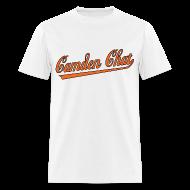 T-Shirts ~ Men's T-Shirt ~ Men's Front/Back: CC/URL (white)