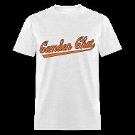 T-Shirts ~ Men's T-Shirt ~ Men's Front/Back: CC/URL (grey)