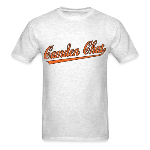 Men's Front/Back: CC/URL (grey) - Men's T-Shirt