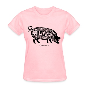 'Words to Live By' (Pig) with Do Something quote - Women's T-Shirt