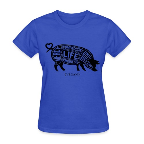 'Words to Live By' (Pig) w/ Daily Choices quote - Women's T-Shirt