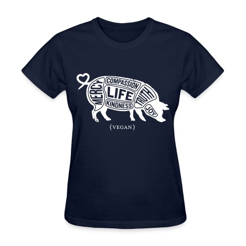Words to Live By (Pig) - Standard w/Once We Know Quote - Women's T-Shirt