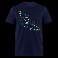 T-Shirts ~ Men's T-Shirt ~ YellowIbis.com 'Astronomy' Men's / Unisex Standard T: Galaxy (Navy Blue)