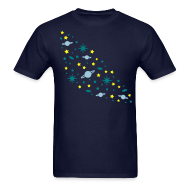 T-Shirts ~ Men's T-Shirt ~ YellowIbis.com 'Astronomy' Men's / Unisex Standard T: Galaxy (Navy Blue)