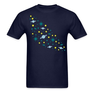 YellowIbis.com 'Astronomy' Men's / Unisex Standard T: Galaxy (Navy Blue) - Men's T-Shirt
