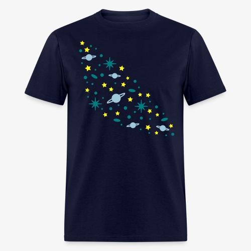 YellowIbis.com 'Astronomy' Men's / Unisex Standard T: Galaxy (Navy Blue) - Men's T-Shirt