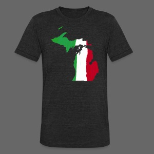 Michigan Italian Flag - Unisex Tri-Blend T-Shirt by American Apparel