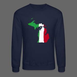Michigan Italian Flag - Crewneck Sweatshirt