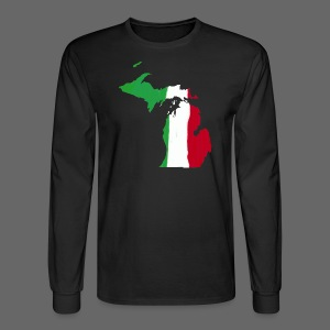 Michigan Italian Flag - Men's Long Sleeve T-Shirt
